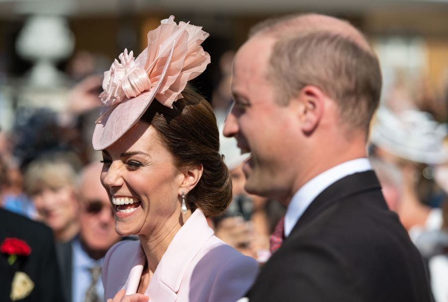 Kate Middleton et le prince William au palais de Buckingham à Londres, le 21 mai 2019