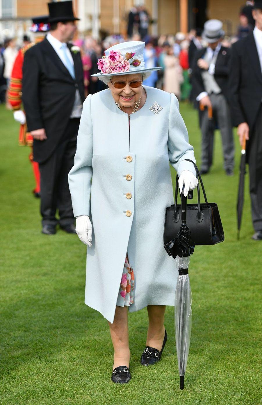La reine Elizabeth II au palais de Buckingham à Londres, le 21 mai 2019