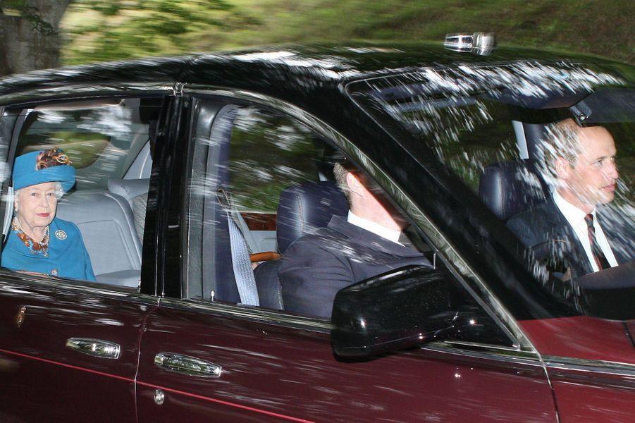 Le prince William et la reine Elizabeth II à Crathie en Ecosse, le 26 août 2018