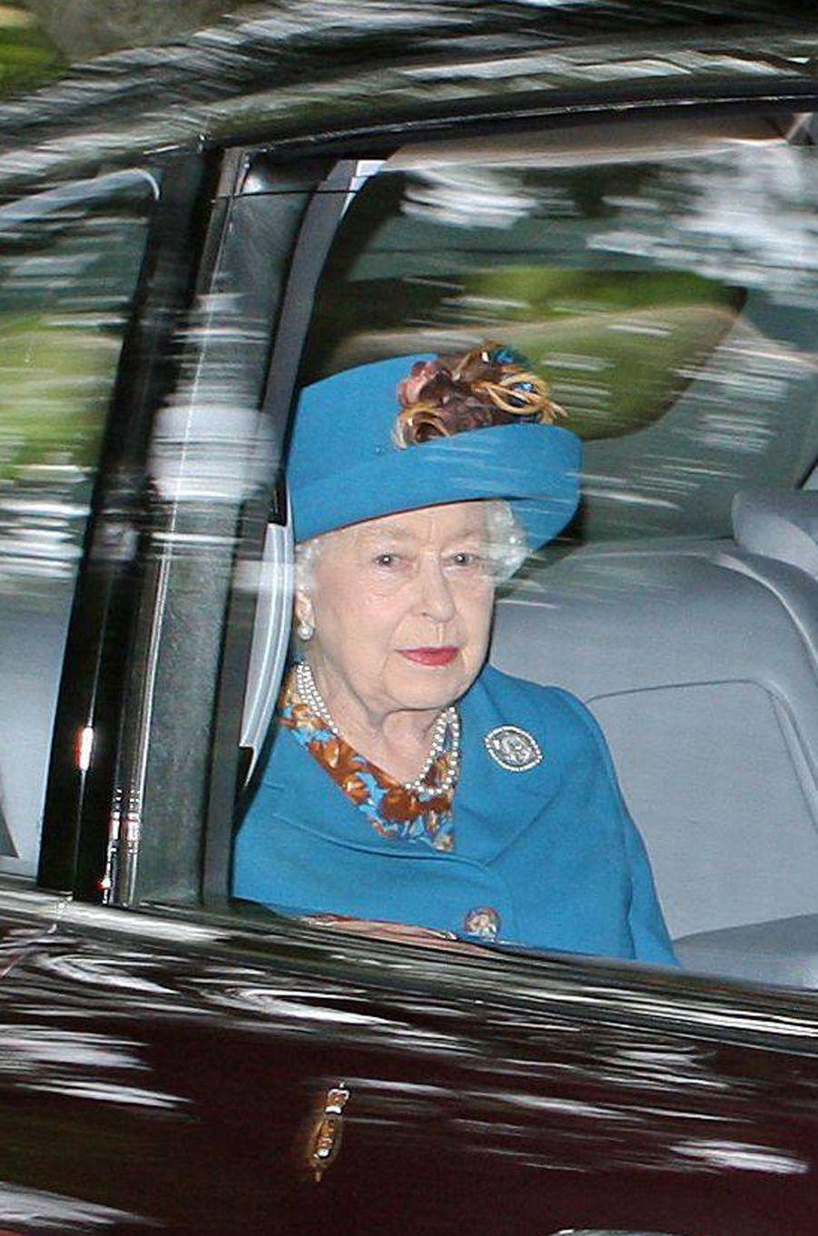 La reine Elizabeth II à Crathie en Ecosse, le 26 août 2018