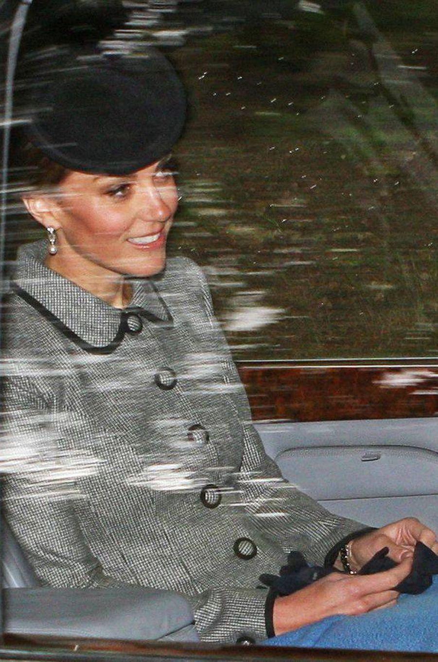 La duchesse Catherine de Cambridge à Crathie en Ecosse, le 26 août 2018