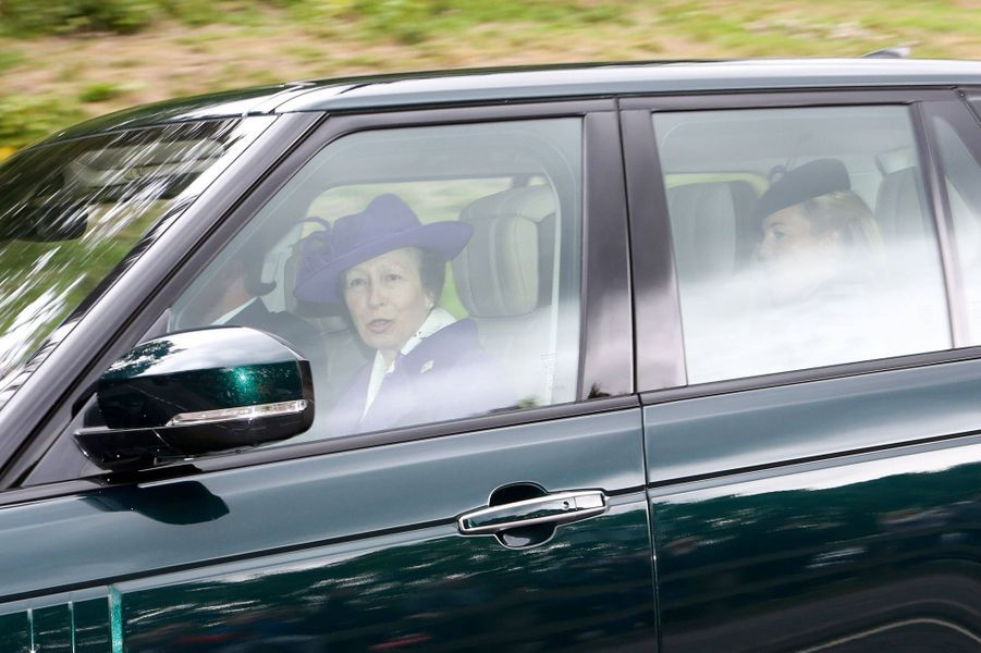 La princesse Anne et Autumn Phillips à Crathie en Ecosse, le 26 août 2018