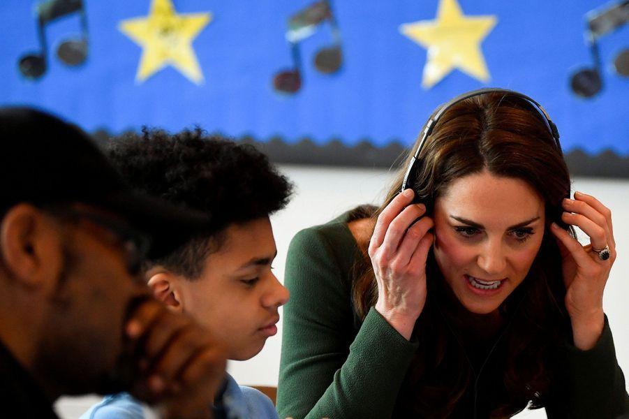 Kate Middleton a inauguré une école pour enfants en difficulté mercredi, à Londres