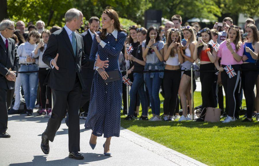 Kate Middleton en visite àBletchley Park le 14 mai 2019