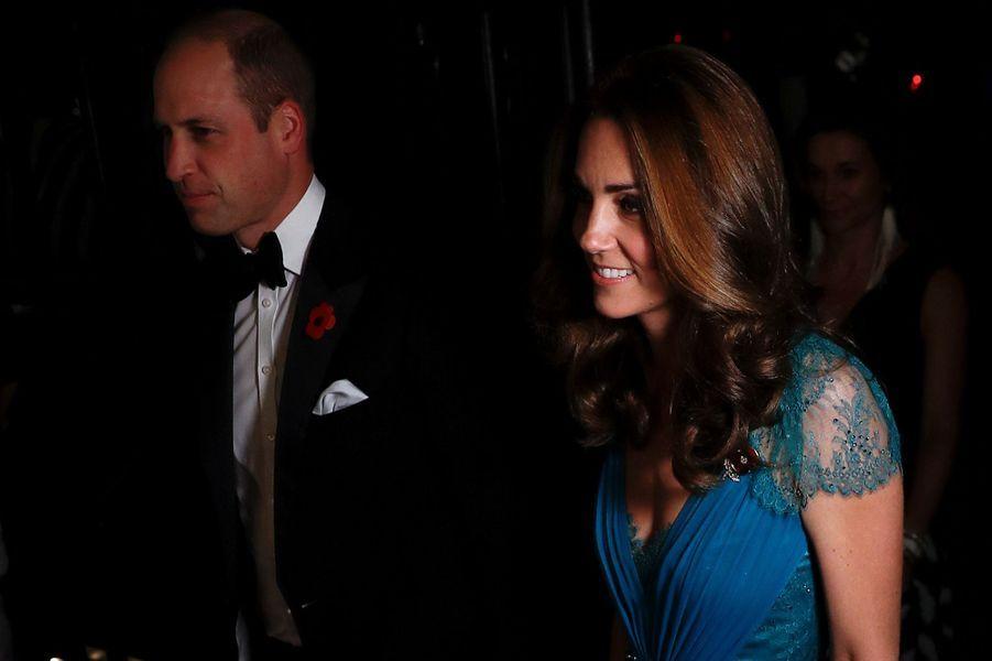 La duchesse Catherine de Cambridge et le prince William à Londres, le 9 novembre 2018