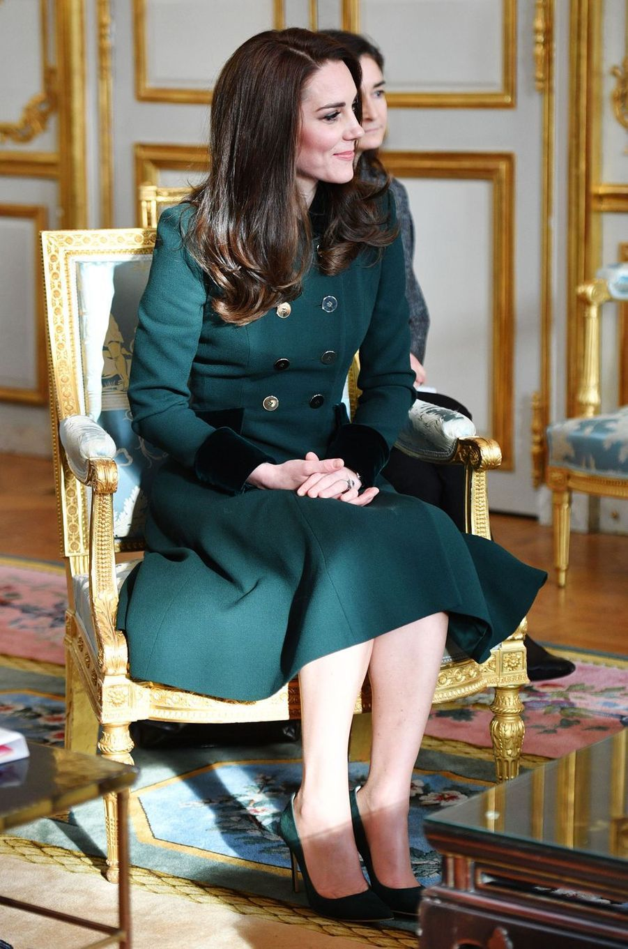 La duchesse de Cambridge, Kate Middleton, à Paris le 17 mars 2017