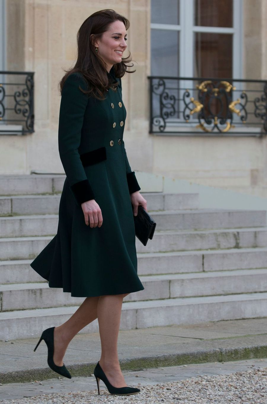 La duchesse de Cambridge, née Kate Middleton, à Paris le 17 mars 2017