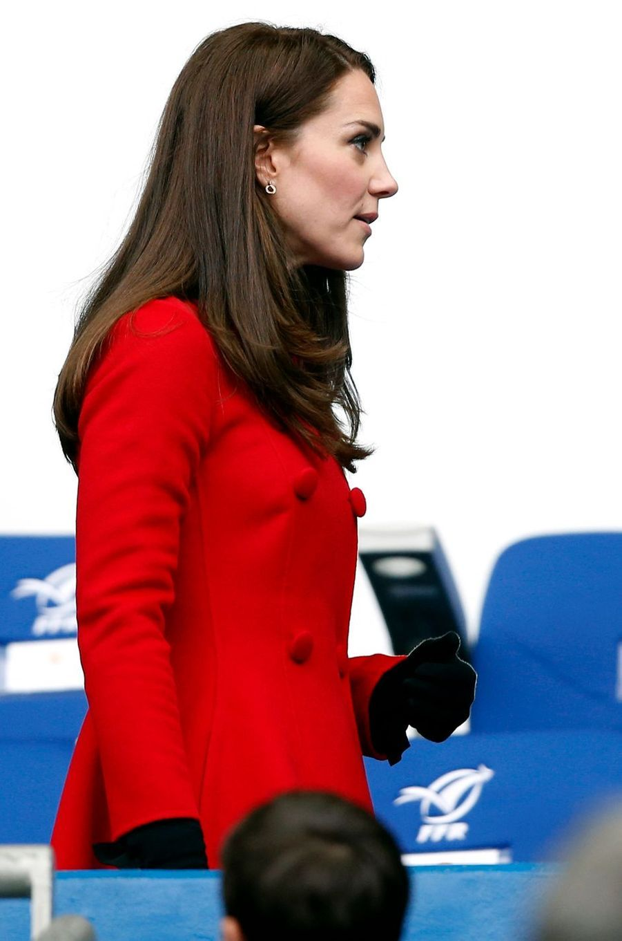 La duchesse de Cambridge, née Kate Middleton, en Carolina Herrera à Paris le 18 mars 2017