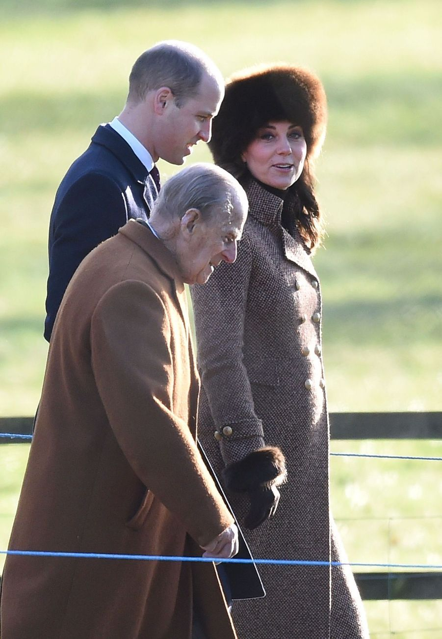 Kate Middleton, Une Messe À Sandringham Avec La Reine, Philip, William Et Pippa 1
