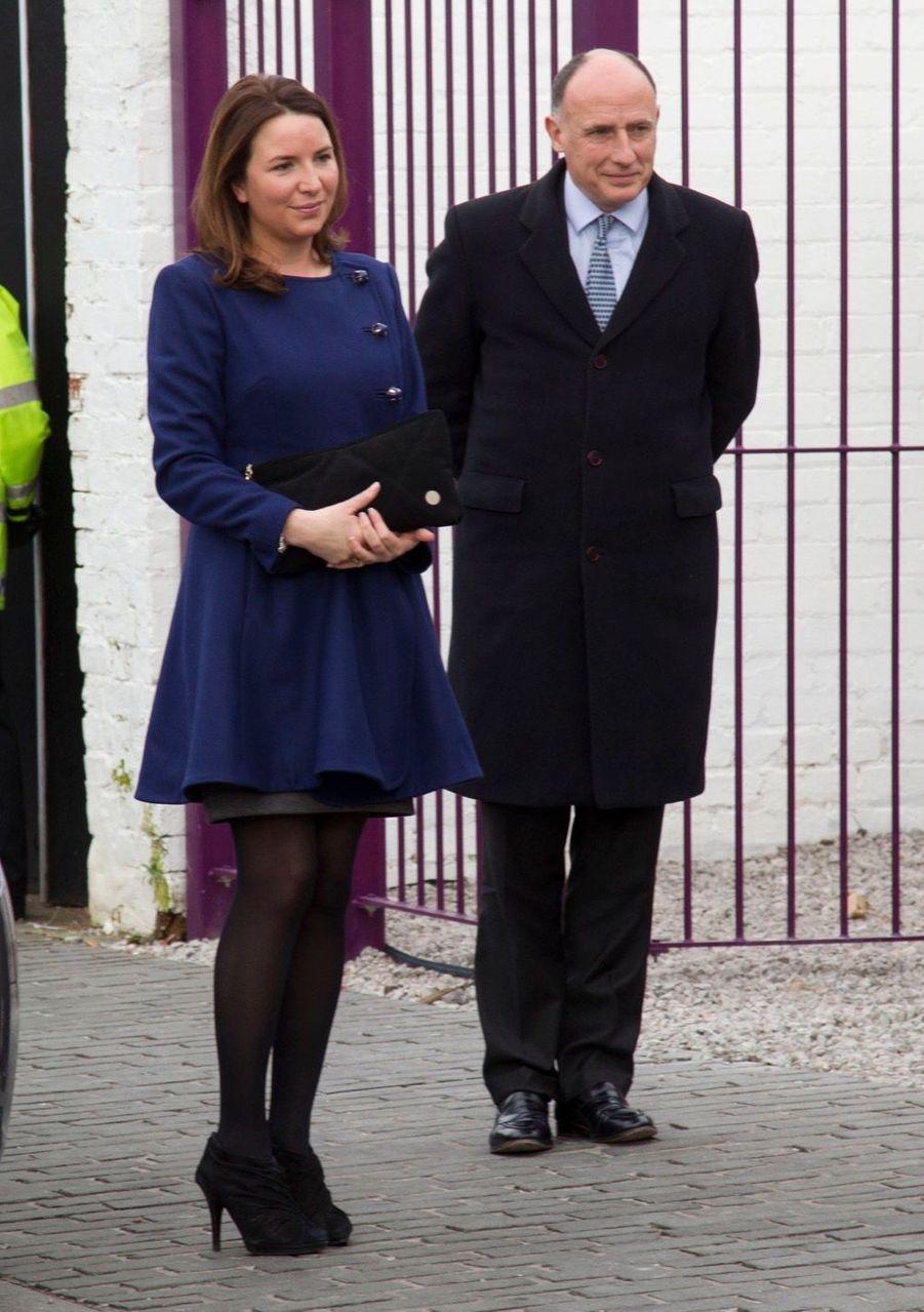 Rebecca Deacon avec Jamie Lowther-Pinkerton, en février 2012.