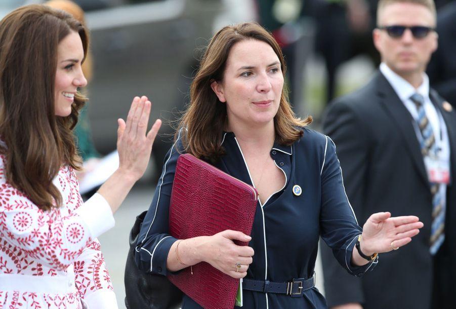 Rebecca Deacon avec Kate Middleton, au Canada en septembre 2016