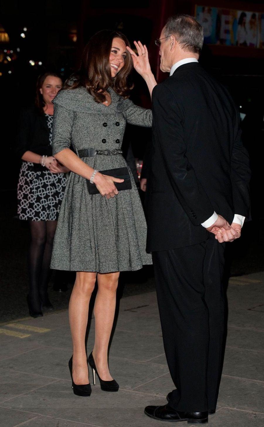 Rebecca Deacon avec Kate Middleton, en février 2012.