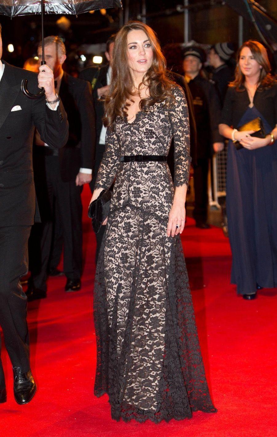 Rebecca Deacon avec Kate Middleton, en janvier 2012.