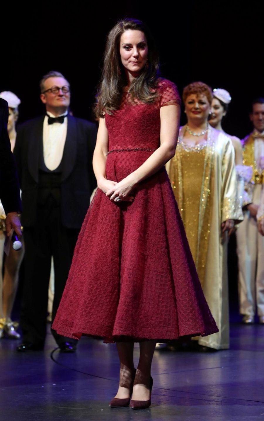Kate Middleton Au Theatre Royal Drury Lane De Londres Mardi 4 Avril 2017 20