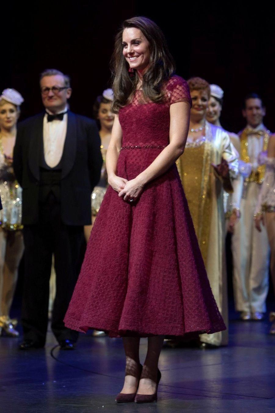 Kate Middleton Au Theatre Royal Drury Lane De Londres Mardi 4 Avril 2017 23