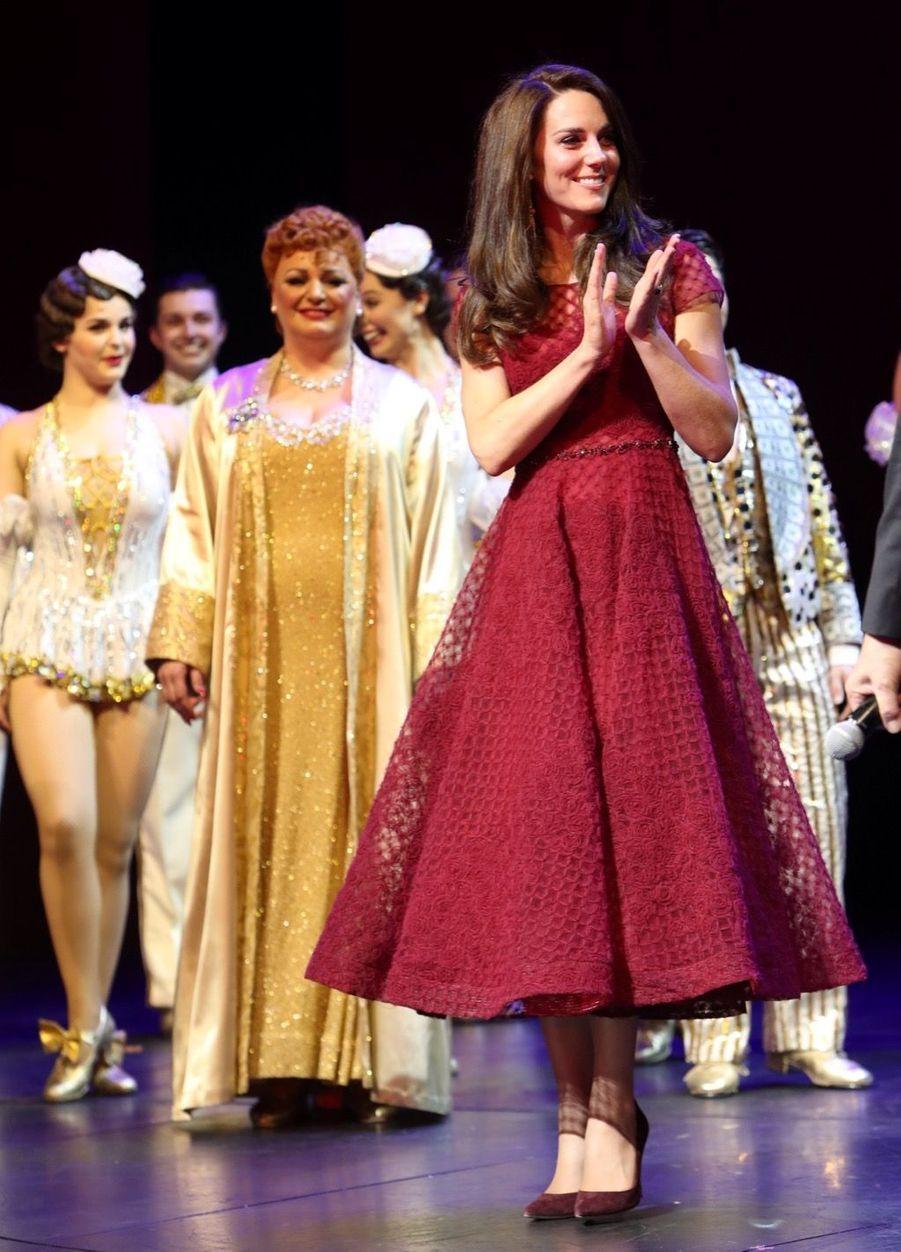 Kate Middleton Au Theatre Royal Drury Lane De Londres Mardi 4 Avril 2017 26