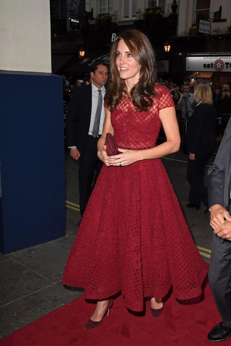 Kate Middleton Au Theatre Royal Drury Lane De Londres Mardi 4 Avril 2017