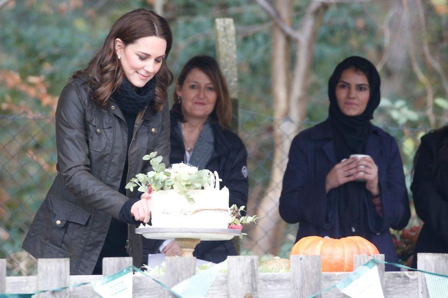 La duchesse Catherine de Cambridge à Londres, le 29 novembre 2017