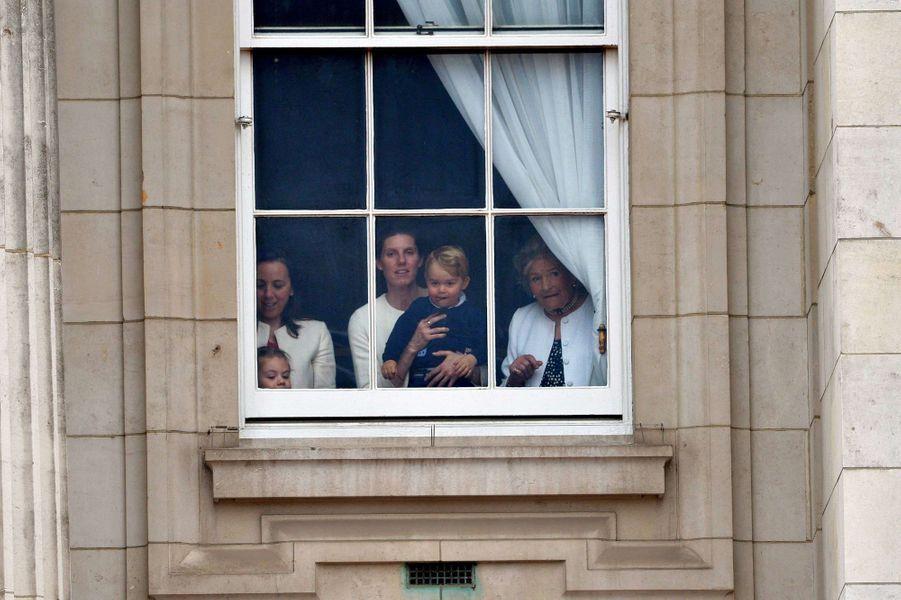 Le prince George à la cérémonie Trooping the Colour à Londres, à l'occasion de l'anniversaire de la reine Elizabeth