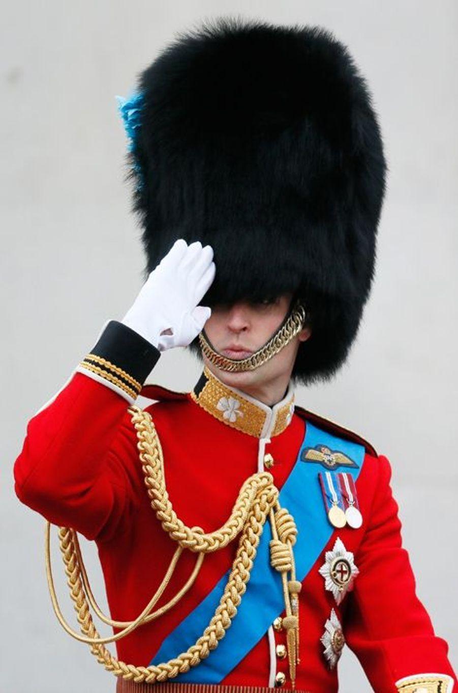 Le prince William à la cérémonie Trooping the Colour à Londres, à l'occasion de l'anniversaire de la reine Elizabeth