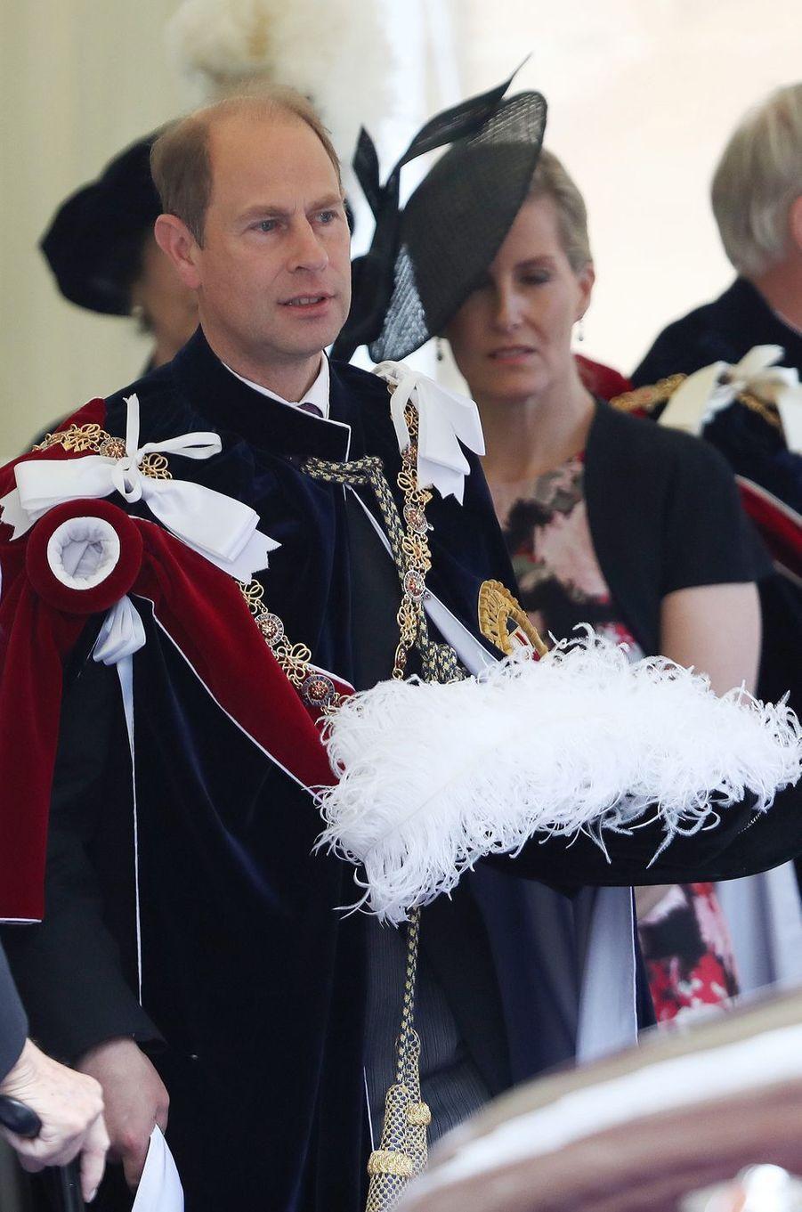 La prince Edward et la comtesse Sophie de Wessex à Windsor, le 13 juin 2016