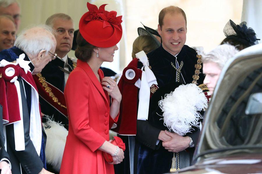 Le prince William et la duchesse Catherine de Cambridge à Windsor, le 13 juin 2016