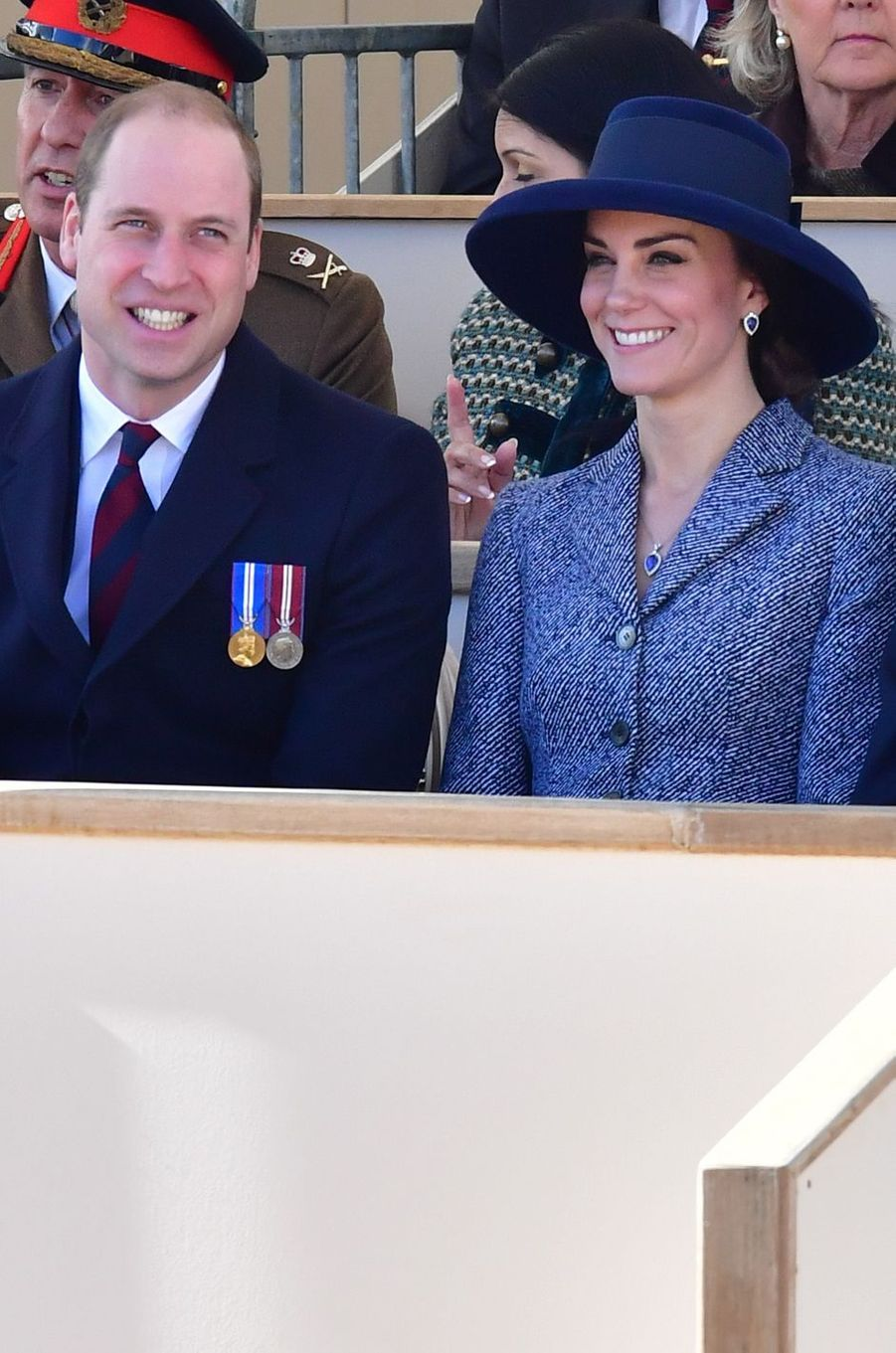 Le prince William et la duchesse de Cambridge, née Kate Middleton, à Londres le 9 février 2017