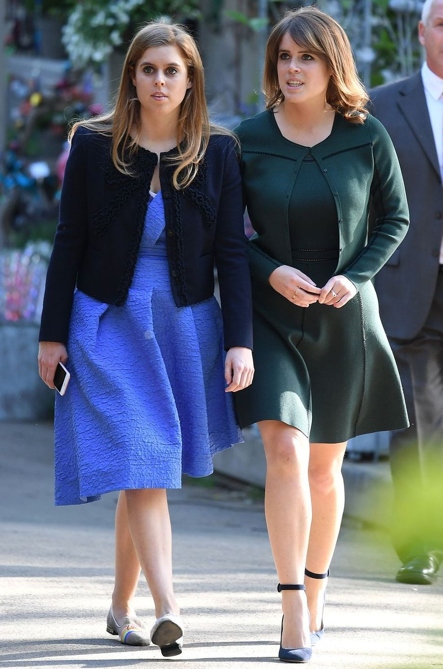 Les princesses Beatrice et Eugenie d'York à Londres, le 22 mai 2017