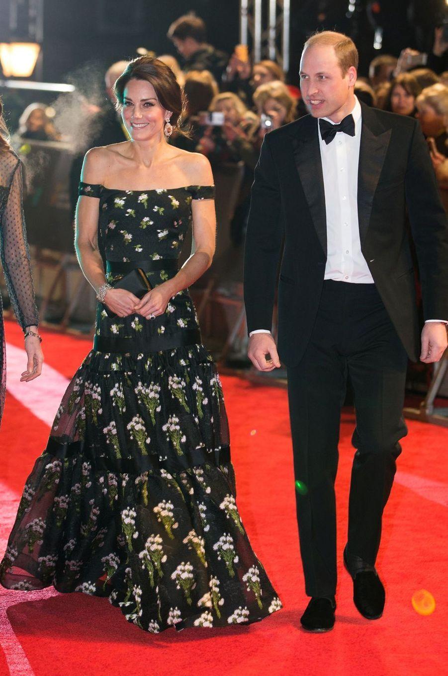 La duchesse Catherine de Cambridge en Alexander McQueen, le 12 février 2017