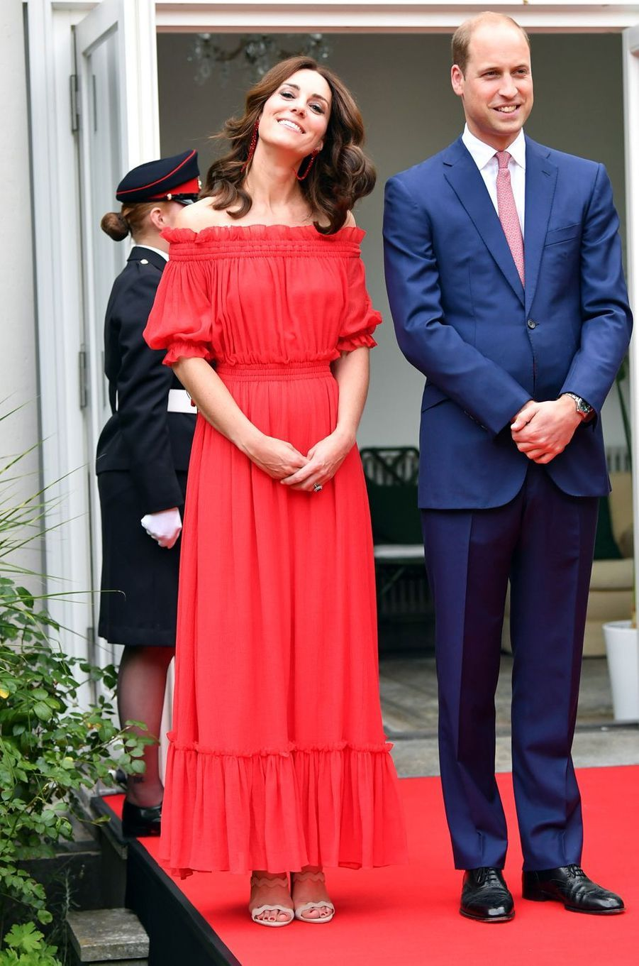 La duchesse Catherine de Cambridge en Alexander McQueen, le 19 juillet 2017