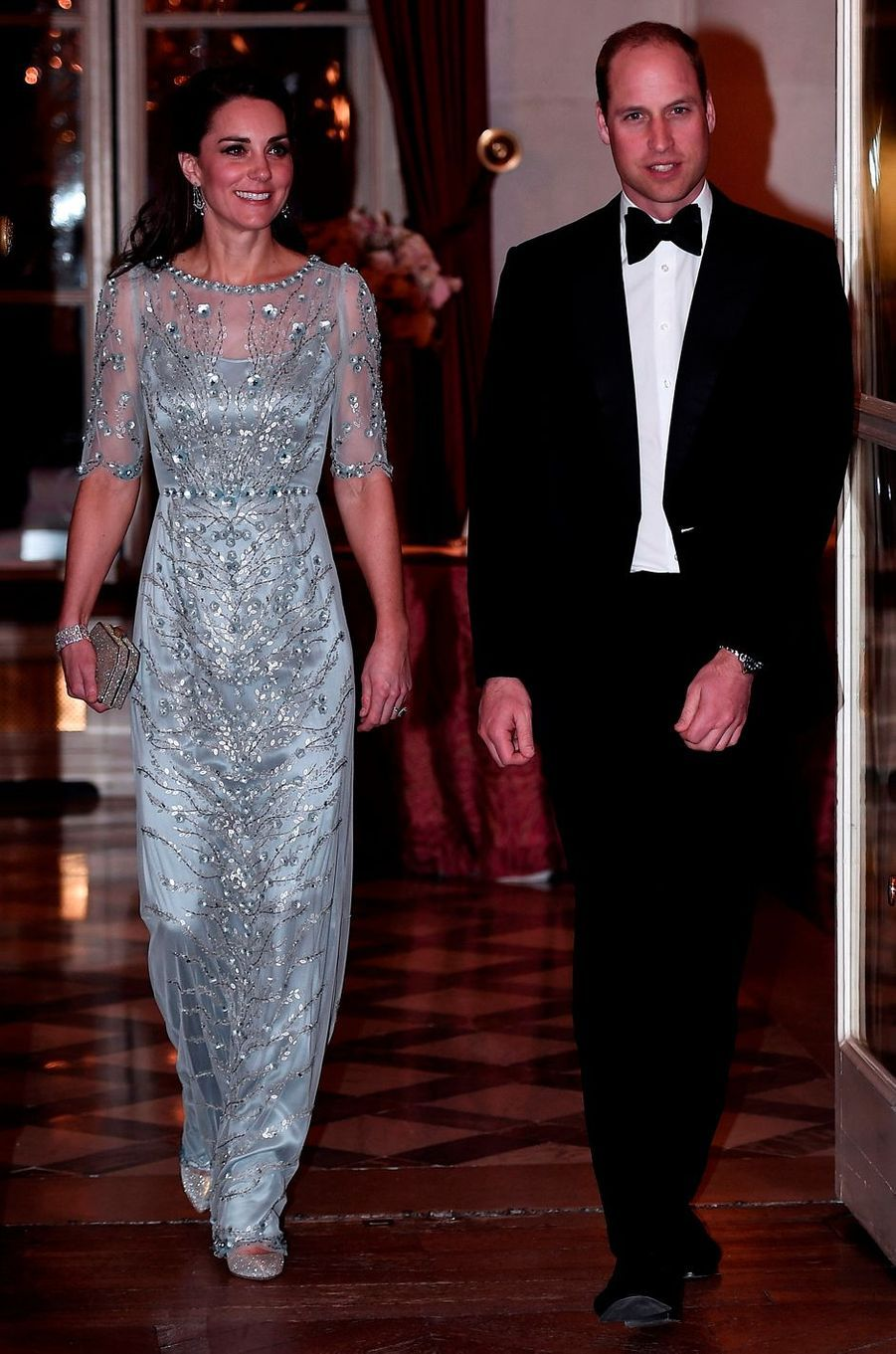 La duchesse Catherine de Cambridge en Jenny Packham, le 17 mars 2017
