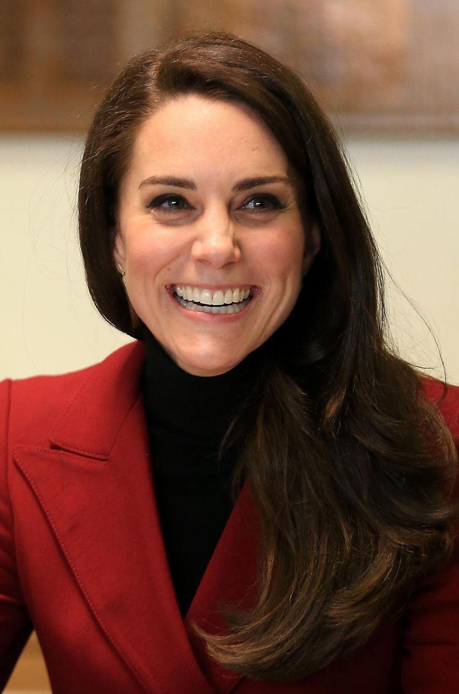 La duchesse Catherine de Cambridge, le 14 février 2017