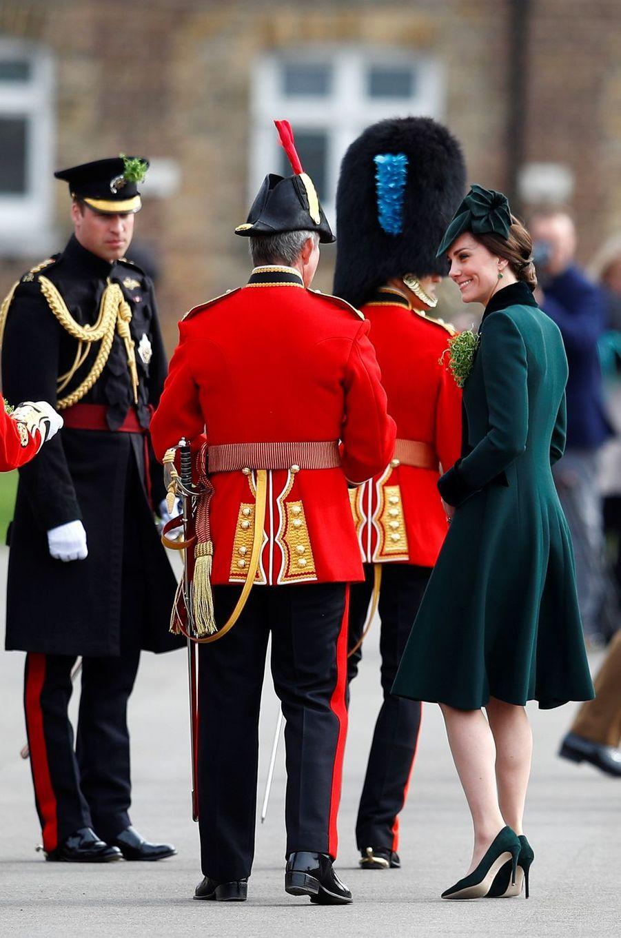 Kate Middleton pour la St Patrick à Aldershot, le 17 mars 2017