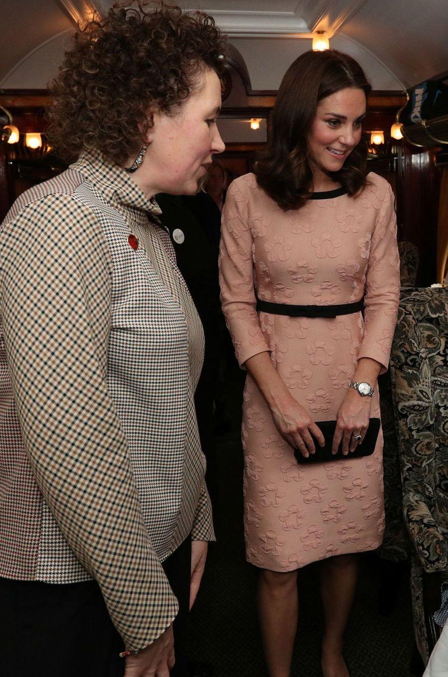 Kate Middleton à Londres, le 16 octobre 2017