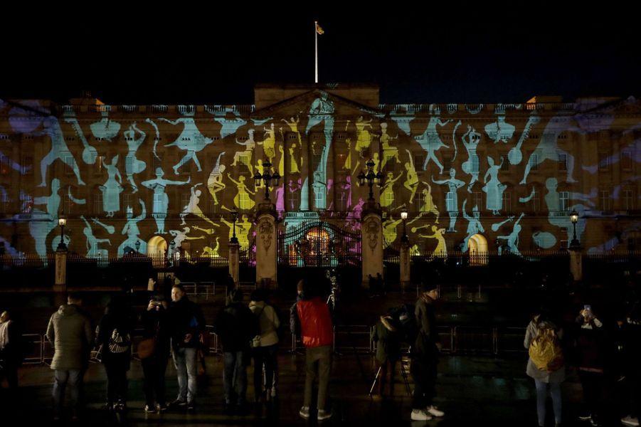 Le Palais de Buckingham à Londres sous le signe de l'Inde, le 27 février 2017