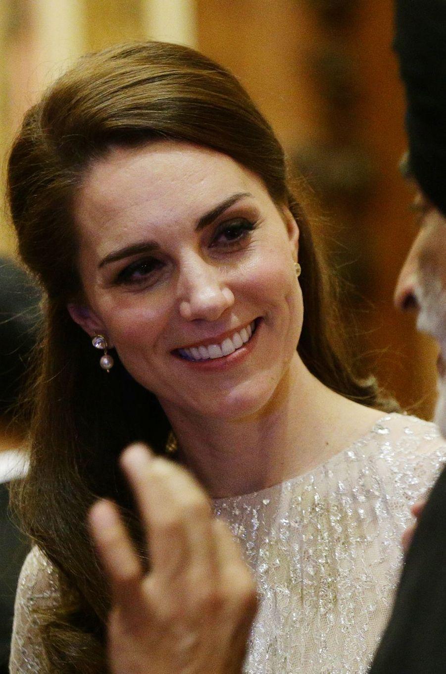 La duchesse Catherine de Cambridge au Palais de Buckingham à Londres, le 27 février 2017