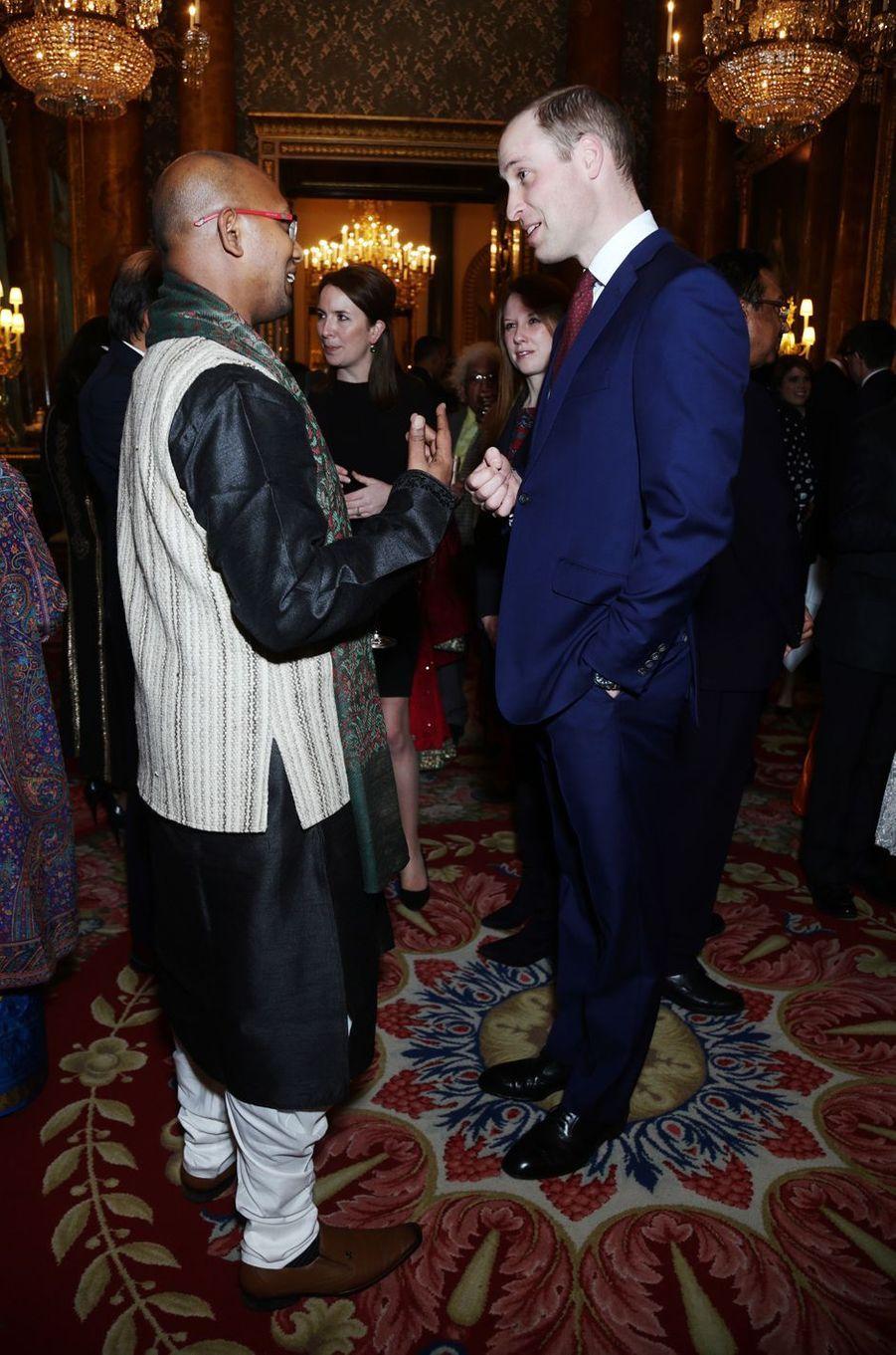 Le prince William au Palais de Buckingham à Londres, le 27 février 2017