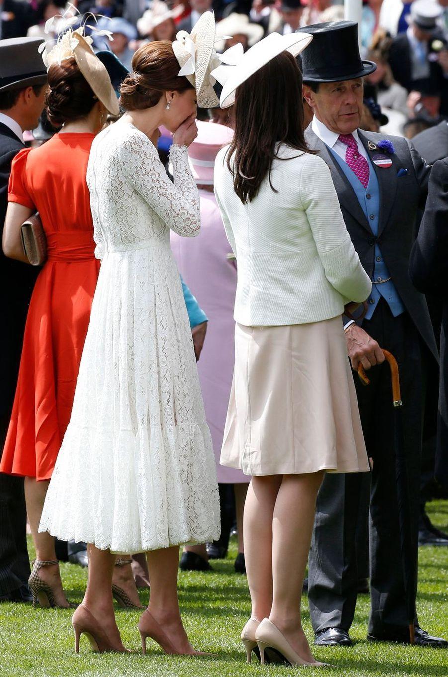 La duchesse de Cambridge, née Kate Middleton, au Royal Ascot le 15 juin 2016