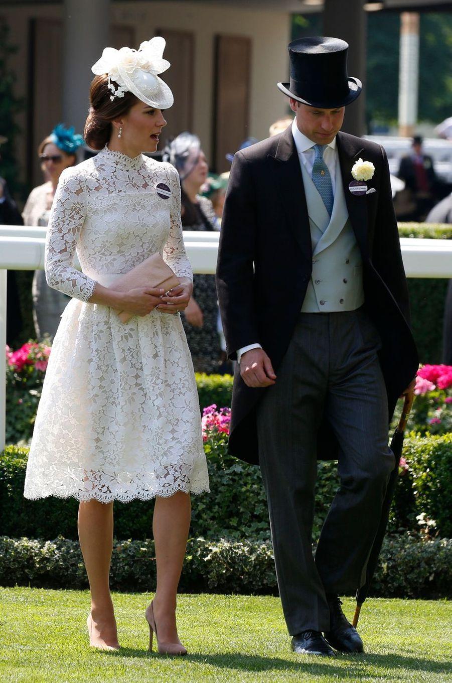 La duchesse Catherine de Cambridge au Royal Ascot le 20 juin 2017