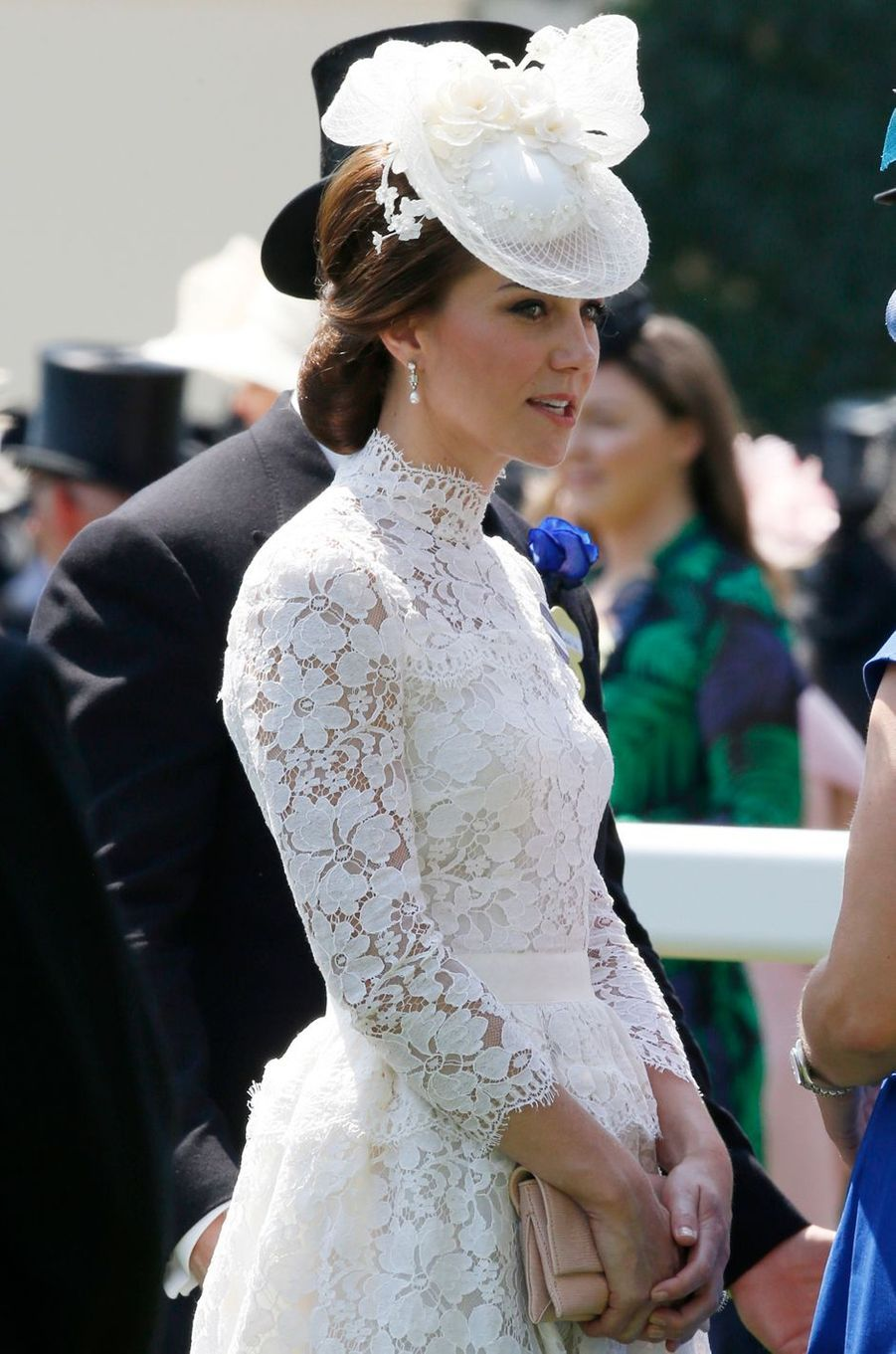 La duchesse de Cambridge, née Kate Middleton, au Royal Ascot le 20 juin 2017