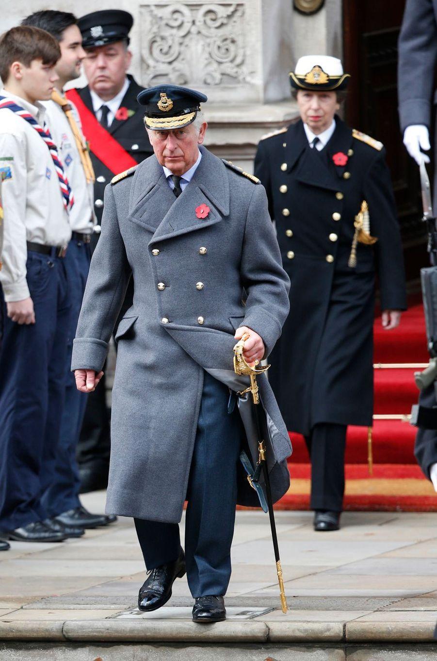 Le prince Charles et la princesse Anne à Londres, le 12 novembre 2017