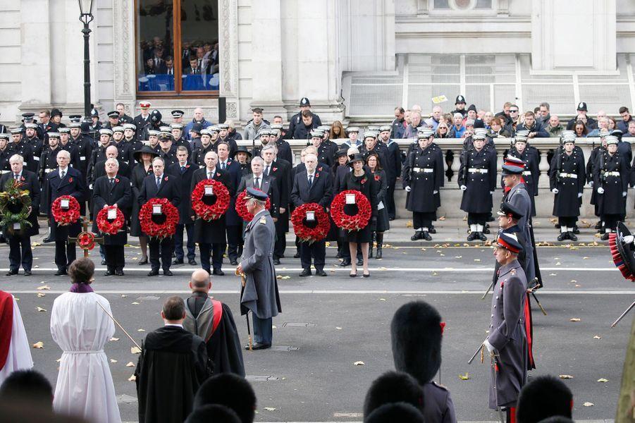 La famille royale britannique à Londres, le 12 novembre 2017
