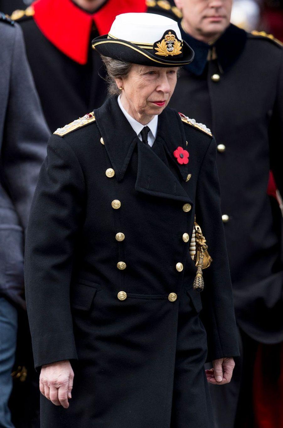 La princesse Anne à Londres, le 12 novembre 2017