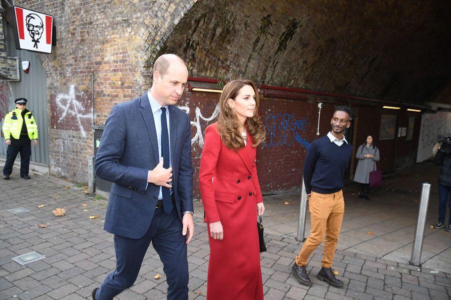 Kate Middleton et le prince Williamà Londres le 20 octobre 2020