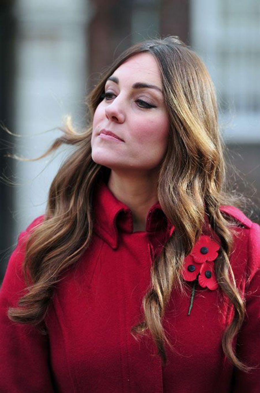Kate, délicate fleur pour l'appel aux coquelicots