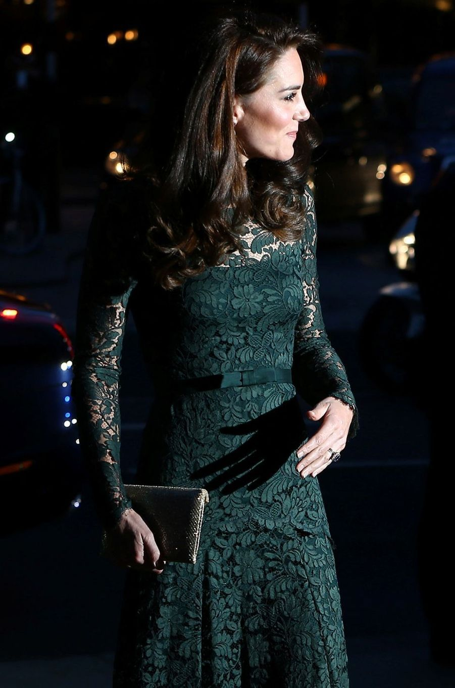 La duchesse de Cambridge, née Kate Middleton, glamour à Londres le 28 mars 2017
