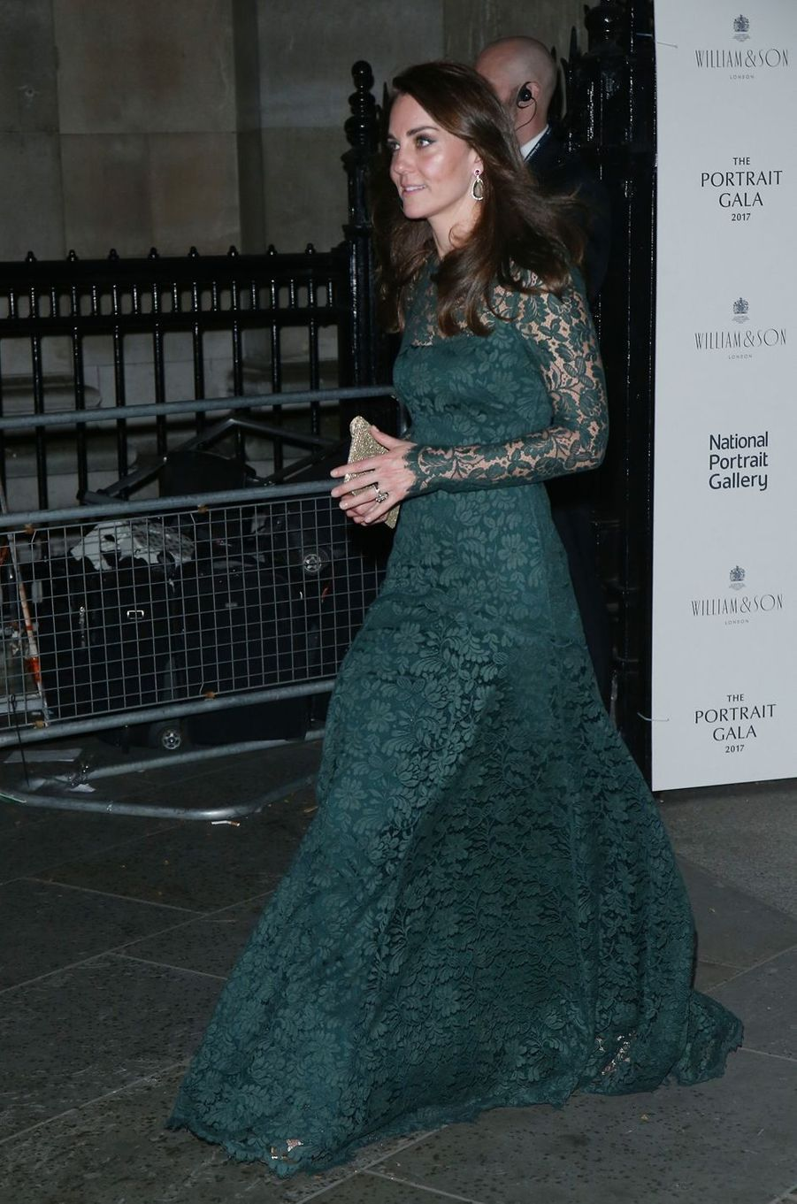 La duchesse de Cambridge, née Kate Middleton, à Londres le 28 mars 2017