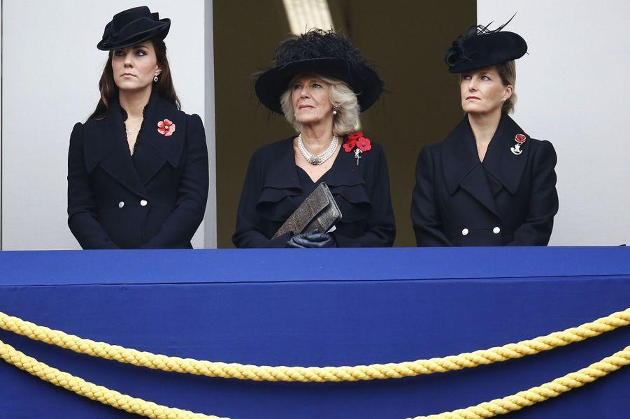 Catherine, duchesse de Cambridge, Camilla, duchesse de Cornouailles et Sophie, comtesse de Wessex