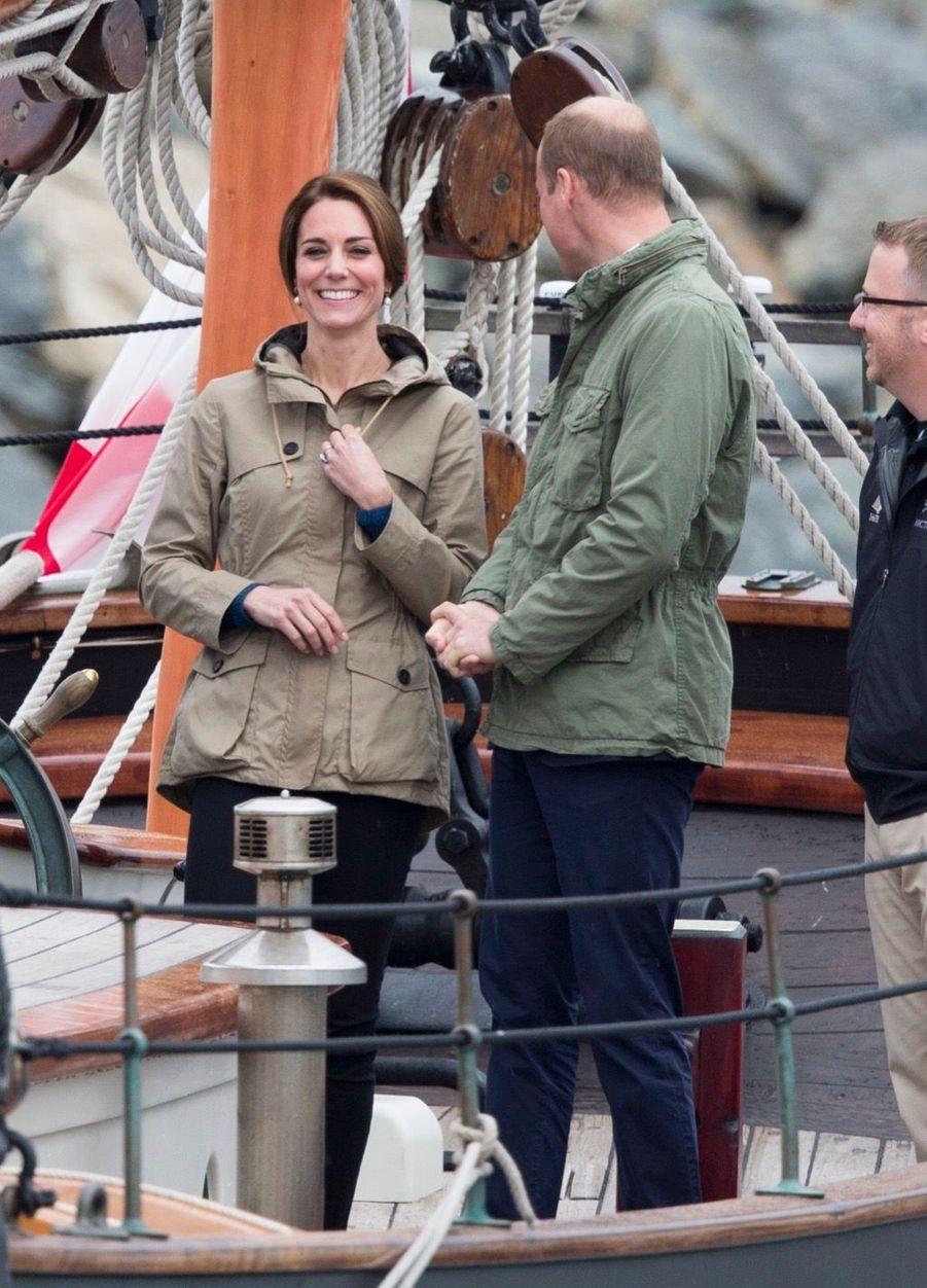 Kate Middleton à bord de la goélette Pacific Grace, à Victoria au Canada