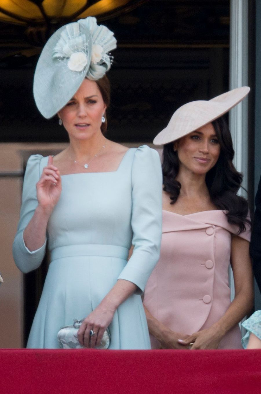 Kate Middleton et Meghan Markle à Londres, le 9 juin 2018